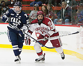 Tommy Fallen (Yale - 22), Alexander Kerfoot (Harvard - 14) - The visiting Yale University Bulldogs defeated the Harvard University Crimson 2-1 (EN) on Saturday, November 15, 2014, at Bright-Landry Hockey Center in Cambridge, Massachusetts.