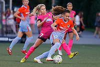 Rochester, NY - Saturday Aug. 27, 2016: McCall Zerboni, Andressa Machry during a regular season National Women's Soccer League (NWSL) match between the Western New York Flash and the Houston Dash at Rochester Rhinos Stadium.