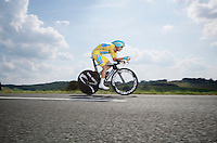Vincenzo Nibali (ITA/Astana) in TTbali-mode<br /> <br /> 2014 Tour de France<br /> stage 20: ITT Bergerac - P&eacute;rigueux (54km)