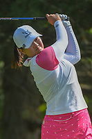 Angel Yin (USA) watches her tee shot on 2 during round 4 of the 2018 KPMG Women's PGA Championship, Kemper Lakes Golf Club, at Kildeer, Illinois, USA. 7/1/2018.<br /> Picture: Golffile | Ken Murray<br /> <br /> All photo usage must carry mandatory copyright credit (&copy; Golffile | Ken Murray)