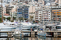 Piraeus, Greece. The Marina and seafront.