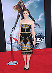 Elizabeth Henstridge  attends The Marvel World Premiere of Captain America; The Winter Soldier held at The El Capitan in Hollywood, California on March 13,2014                                                                               © 2014 Hollywood Press Agency