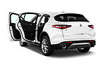 Car images close up view of a 2018 Alfa Romeo Stelvio Ti 5 Door SUV doors