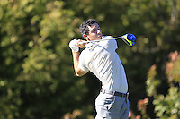 Rory McIlroy (NIR) (Team Europe) on the 10th tee during Saturday afternoon Fourball at the Ryder Cup, Hazeltine National Golf Club, Chaska, Minnesota, USA.  01/10/2016<br /> Picture: Golffile | Fran Caffrey<br /> <br /> <br /> All photo usage must carry mandatory copyright credit (&copy; Golffile | Fran Caffrey)