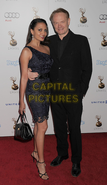 Allegra Riggio & Jared Harris.The 64th Primetime Emmy Awards Performers Nominee Reception held at Spectra by Wolfgang Puck at the Pacific Design Center in West Hollywood, California, USA..September 21st, 2012.full length blue lace dress black suit bag purse couple .CAP/ROT/TM.©Tony Michaels/Roth Stock/Capital Pictures