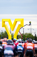 Picture by SWpix.com - 03/05/2018 - Cycling - 2018 Tour de Yorkshire - Stage 1: Beverley to Doncaster - Yorkshire yellow Y in Doncaster