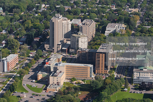 Hopital Centre Medical Jeffery Hale hospital is pictured in this aerial photo in Quebec city Thursday September 3, 2015.