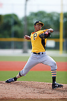 Pittsburgh Pirates Junior Lopez (98) during an instructional league intrasquad black and gold game on September 18, 2015 at Pirate City in Bradenton, Florida.  (Mike Janes/Four Seam Images)
