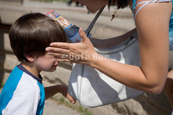 mother punishing child