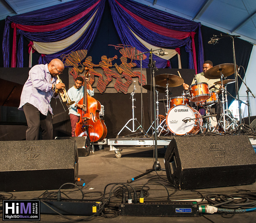 Terence Blanchard performs at the 2014 Jazz and Heritage Festival in New Orleans, LA.