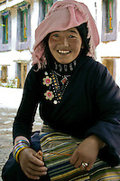 Pretty Young Tibetan Girl at Sera Monastery.