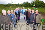 Past players and club members at the unveiling ceremony last Sunday to mark 50yrs of the Gneeveguilla GAA club, pictured l-r: Jimmy Brosnan, Mike Murphy, Jack McCarthy, Ambrose O'Donnelly, Johnny Barry, Paddy O'Donoghue, Pat Moynihan, Aeneas O'Leary, Thaidhg O'Leary, Jerry McCarthy, Mike Murphy, John Murphy, Oliver Fleming, Seamus McCarthy and Willie Joe Cronin.