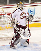 Parker Milner (BC - 35) - The Boston College Eagles defeated the University of Vermont Catamounts 4-1 on Friday, February 1, 2013, at Kelley Rink in Conte Forum in Chestnut Hill, Massachusetts.