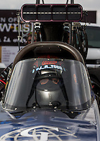 Sept. 1, 2013; Clermont, IN, USA: NHRA top fuel dragster driver J.R. Todd during qualifying for the US Nationals at Lucas Oil Raceway. Mandatory Credit: Mark J. Rebilas-
