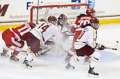 Dakota Woodworth (BU - 11), Emily Pfalzer (BC - 14), Megan Miller (BC - 32), Isabel Menard (BU - 20), Ashley Motherwell (BC - 18) - The Boston College Eagles tied the visiting Boston University Terriers 5-5 on Saturday, November 3, 2012, at Kelley Rink in Conte Forum in Chestnut Hill, Massachusetts.