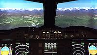 A380 Flugsimulator auf dem Flughafen in Egelsbach