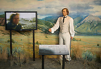 A statue of Brigham Young in the South Visitors Center, at Temple Square in Salt Lake City, Utah, Monday, October 1, 2012. ..Photo by Matt Nager