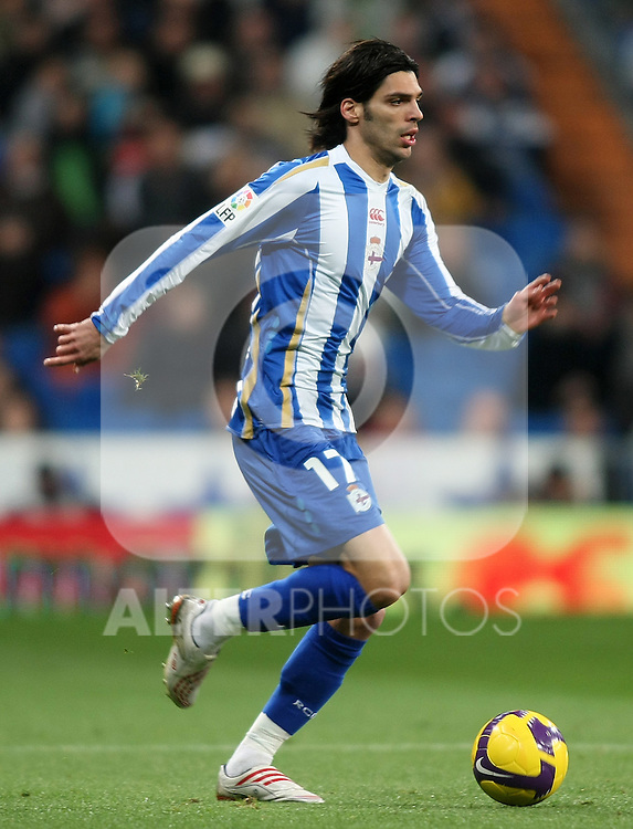 Deportivo de la Coruna's Angel Lafita during La Liga match.January 25 2009. (ALTERPHOTOS/Acero).