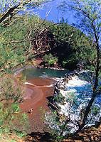 Red sand beach, Hana, East coast, Maui