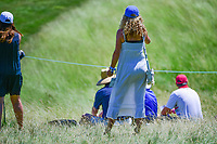 An avid golf fan watches from near the 11th green during Thursday's round 1 of the 117th U.S. Open, at Erin Hills, Erin, Wisconsin. 6/15/2017.<br /> Picture: Golffile | Ken Murray<br /> <br /> <br /> All photo usage must carry mandatory copyright credit (&copy; Golffile | Ken Murray)