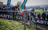 Wout Van Aert (BEL/Crelan-Charles) &amp; Tim Merlier (BEL/Crelan-Charles) during the Elite Men's course recon<br /> <br /> Koppenbergcross / Belgium 2017