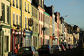 Row of colourful houses in Cobh, Co. Cork, Republic of Ireland