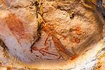 Gwion Gwion, or Bradshaw, Rock Art on Jar Island, Vansittart Bay, The Kimberley, Australia
