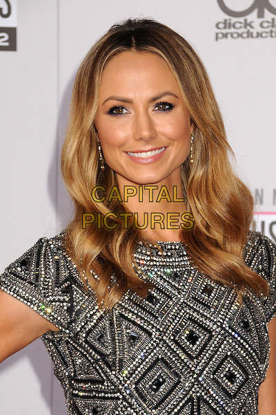 Stacy Keibler.40th Anniversary American Music Awards - Arrivals held at Nokia Theatre L.A. Live, Los Angeles, California, USA..November 18th, 2012.AMA AMAs headshot portrait black silver white embellished jewel encrusted   .CAP/ADM/BP.©Byron Purvis/AdMedia/Capital Pictures.