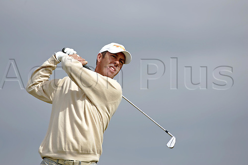 15 July 2005:  Australian golfer Richard Green (AUS) looks into the distance after playing from the 16th tee during the second round.  Green shot a 4 under par 68 to be 4 under after 2 rounds in The Open Championship, The Old Course at St Andrews, Scotland. Photo: Glyn Kirk/Actionplus...050715 golf major