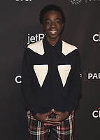 "HOLLYWOOD, CA - MARCH 25:  Caleb McLaughlin at PaleyFest 2018 - ""Stranger Things"" at the Dolby Theatre on March 25, 2018 in Hollywood, California. (Photo by Scott KirklandPictureGroup)"