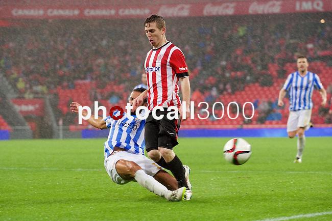 Football match during La Copa del rey, between the teams Athletic Club and Malaga CF<br /> Bilbao, 30-01-14<br /> muniain<br /> Rafa Marrodán&Alex Zugaza/PHOTOCALL3000