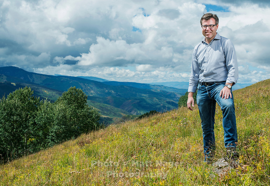 CEO of Vail Resorts Robert Katz on top of the Eagle Bahn Gondola near the new Epic Discovery adventure park in Vail, Colorado, Friday, September 2, 2016. Katz has transformed Vail into a growth stock with innovative marketing, pumping money into acquisitions, off-piste attractions, and the hugely popular Epic Pass, which for $800 buys all-season access to every Vail resort and a couple more in Europe. Purists may whine but the stock's more than doubled in the past couple of years to a $5 billion market cap.<br /> <br /> Photo by Matt Nager