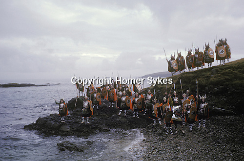Up Helly Aa. Lerwick Sheltand. Scotland. Fire festival.
