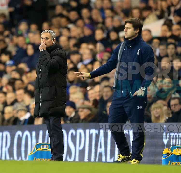 Chelsea's Jose Mourinho looks on dejected after going 5-2 down<br /> <br /> Barclays Premier League - Tottenham Hotspur vs Chelsea - White Hart Lane  - England - 1st January 2015 - Picture David Klein/Sportimage