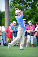 Peter Malnati (USA) watches his tee shot on 18 during round 1 of the Shell Houston Open, Golf Club of Houston, Houston, Texas, USA. 3/30/2017.<br /> Picture: Golffile | Ken Murray<br /> <br /> <br /> All photo usage must carry mandatory copyright credit (&copy; Golffile | Ken Murray)