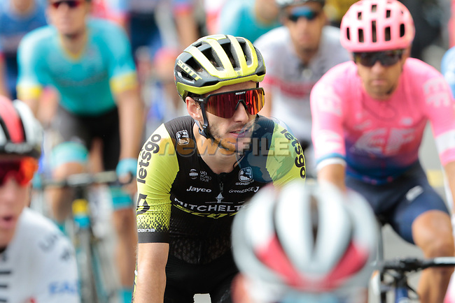 Adam Yates (GBR) Mitchelton-Scott crosses the finish line at the end of Stage 12 of the 2019 Tour de France running 209.5km from Toulouse to Bagneres-de-Bigorre, France. 18th July 2019.<br /> Picture: ASO/Colin Flockton | Cyclefile<br /> All photos usage must carry mandatory copyright credit (© Cyclefile | Colin Flockton)