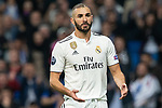 Karim Benzema of Real Madrid during the match between Real Madrid vs Viktoria Plzen of UEFA Champions League, Group Stage, Group G, date 3, 2018-2019 season. Santiago Bernabeu Stadium. Madrid, Spain - 23 OCT 2018.