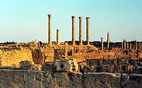 Libia  Sabratha .Citt&agrave;  romana a circa 67km da Tripoli.Il foro romano.<br /> Sabratha Libya.Roman city about 67km from Tripoli.<br /> The roman forum