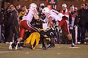 08 October 2009: Missouri linebacker Sean Weatherspoon stops Nebraska running back Roy Helu Jr. in the second quarter at at Memorial Stadium, Columbia, Missouri. Nebraska defeated Missouri 27 to 12.