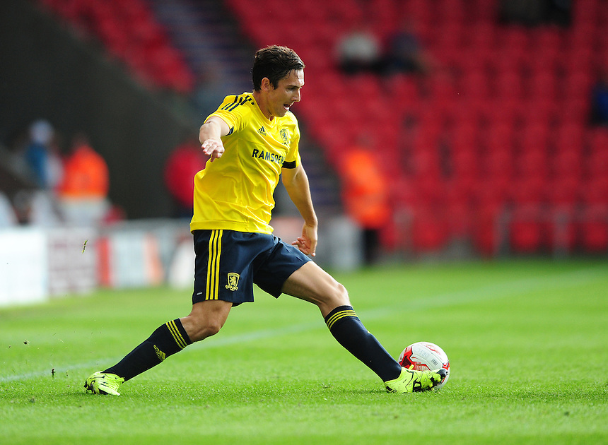 Middlesbrough&rsquo;s Stewart Downing<br /> <br /> Photographer Chris Vaughan/CameraSport<br /> <br /> Football - Pre-Season Friendly - Doncaster Rovers v Middlesbrough - Saturday 25th July 2015 - Keepmoat Stadium, Doncaster<br /> <br /> &copy; CameraSport - 43 Linden Ave. Countesthorpe. Leicester. England. LE8 5PG - Tel: +44 (0) 116 277 4147 - admin@camerasport.com - www.camerasport.com