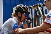9th September 2017, Smithfield Forest, Cairns, Australia; UCI Mountain Bike World Championships; Irina Kalentyeva (RUS) riding for Moebel Maerki MTB Pro Team needs consoling after the elite womens cross country race