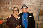 Winsted, CT-19, October 2017-101917CM05 Social moments from left Lana Peck and Jack Sheedy both members of the NW CT Arts Council are photographed during a CultureMIX event sponsored by The Northwest Connecticut Arts Council at the Mad River Lofts in Winsted on Thursday.   Christopher Massa Republican-American