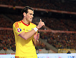 Wales' Gareth Bale gives it the thumbs up<br /> <br /> - European Qualifier - Belgium vs Wales- Heysel Stadium - Brussels - Belgium - 16th November 2014  - Picture David Klein/Sportimage