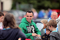 Pictured: Leon Britton. Friday July 2011<br /> Re: Swansea City FC playing rugby at the Mumbles Cricket Club , fundraising for charity, near Swansea south Wales.