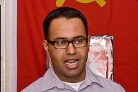 October Revolution Celebrations Southall LDN 2013 Saklatvala Hall - Venezuelan Embassy official Yon Guerra speaking