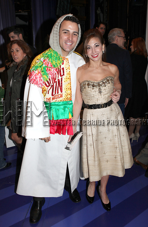 Carlos L. Encinias & Lorin Latarro attending the Broadway Opening Night Gypsy Robe Ceremony celebrating Carlos L. Encinias in 'Scandalous The Musical' at the Neil Simon Theatre in New York City on 11/15/2012