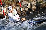 28th September 2019; Canal Olimpic del Segre, La Seu d'Urgell, Catalonia, Spain; ICF Canoe Slalom, World Championships, MC1 Men's Canoe canoe. Picture show Florian Breuer (GER) in action