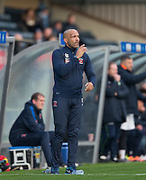 Hartlepool United Assistant Manager Curtis Fleming during the Sky Bet League 2 match between Wycombe Wanderers and Hartlepool United at Adams Park, High Wycombe, England on 26 November 2016. Photo by Andy Rowland / PRiME Media Images.