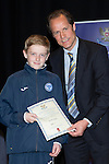 St Johnstone FC Youth Academy Presentation Night at Perth Concert Hall..21.04.14<br /> Alec Cleland presents to Jamie Watt<br /> Picture by Graeme Hart.<br /> Copyright Perthshire Picture Agency<br /> Tel: 01738 623350  Mobile: 07990 594431