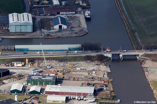 Ombouw N31 Harlingen - aanleg aquaduct naast Koningsbrug